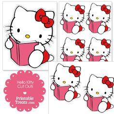 Free Reading Hello Kitty Cut Outs from PrintableTreats.com