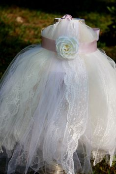 Ribbons and Lace Tutu Dress by LadybyrdsDesigns on Etsy, $60.00