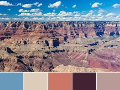18 Color Palettes Inspired by National Parks: Grand Canyon National Park >> http://www.hgtv.com/design/decorating/color/national-park-color-palettes-pictures?soc=pinterest
