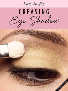 How to fix creasing eye shadow.