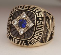 "los angeles dodgers championship rings | 1977 Los Angeles Dodgers World Series ""National League"" Champions 14K ..."