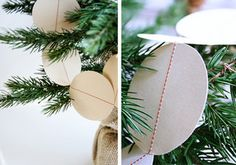 simple sewn paper garland