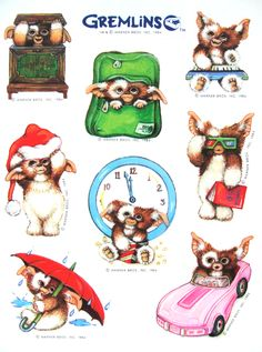 Stickers of the Gizmo Tattoo, Chevy Tattoo, Gremlins Gizmo, Retro Waves, Classic Monsters, My Childhood Memories, Aesthetic Stickers, Fanart, Horror Films