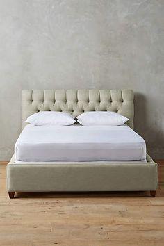 Linen Tufted Lena Bed - anthropologie.com