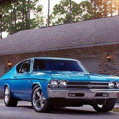 Blue Chevy Chevelle SS
