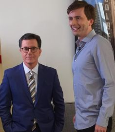 David Tennant at the taping of The Late Show with Stephen Colbert - watch on 04/27/2016 at 11.35/10.35c on CBS