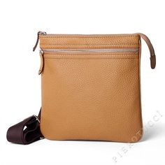 A simple but stylish leather messenger/iPad bag that has been entirely hand crafted in Italy.  A great design, this small leather messenger bag is ideal for keys, wallet, phone, camera etc. Not all guys want to carry everything around in their pockets!  http://www.pierotucci.com/men/cross_body_bag/