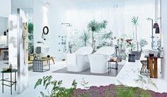 2 Bathtubs baths, bathroom furniture, patricia urquiola, modern interior design, bathtubs, design interiors, bathroom designs, white bathrooms, modern interiors