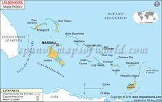 Explore the detailed Map of Bahamas, it is an island country of the Bahama Archipelago consisting of more than 700 islands, cays, and islets in the Atlantic Ocean. Les Bahamas, Bahamas Honeymoon, Nassau Bahamas, Samana, Long Island, Wells, Latitude And Longitude Map, Great Exuma, Greater Antilles