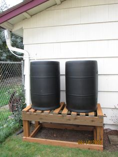 "120 Gal. ""BareNaked Beauty"" Rain Barrel System on 24 inch double barrel stand."