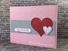Love is in the air with the Lift Me Up bundle from Stampin' Up!'s Occasions 2017 catalog.  #stampinbj.com