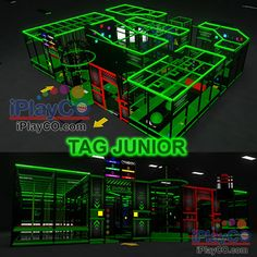 TAG ARENAS A creative blend of physical obstacles and challenging events mixed with fun and immersive activities that make up the multilevel, multi zoned TAG Interactive Arenas.  Player worn electronic bands provide gamification of the arenas and competitive metrics.  We create fun and immersive social active leisure experiences by combining carefully designed physical environments with measurable technology systems to gamify social fitness.