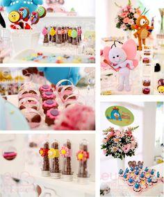 Não era 'mais uma festa da Galinha Pintadinha': era uma festa da Galinha Pintadinha onde deveria ter muitas florzinhas e um colorido leve e suave. Como nós adoramos mimar nossos cliente…