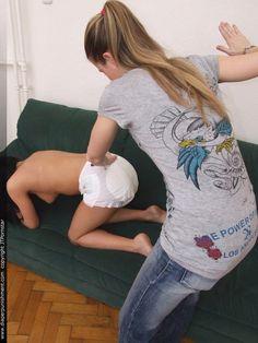 Adult baby spanking