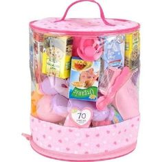 doll care all items fit in a see-through zippered cylinder for carry-along play doll accessories for 12 to baby dolls includes doll food, baby care items, baby toys, bathtime needs, even a travel pottie Baby Dolls For Kids, Toys For Girls, Toys R Us, Kids Toys, Toddler Toys, Baby Toys, Baby Doll Diaper Bag, Baby Annabell, Baby Food By Age