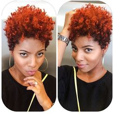I love this cut & color by @shaddah_elyse! She calls it #PumpkinSpice #VoiceOfHair========================== Go to VoiceOfHair.com ========================= Find hairstyles and hair tips! =========================