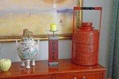 Interiör med föremål från La Reine Inredningar