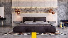 chambre contemporaine et déco murale design