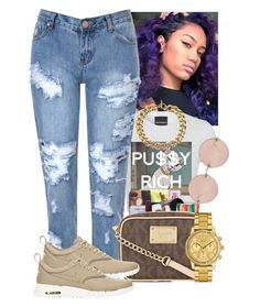 """""""Rich Problem$ ✊"""" by abriannaj ❤ liked on Polyvore featuring Glamorous, Michael Kors, NIKE, Lacoste and Linda Farrow"""