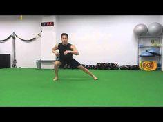 86.【筋トレ】1分間〜ながらトレーニング -Low side to side lunge-