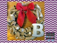Mrs. Bentin's Blackboard: Burlap Wreath & Winter Recipe Turned Summer