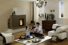 sommerhuber-moderner-kachelofen-02 House Ideas, Interiors, Home Decor, Wood Furnace, Tiling, Refurbishment, Interior, House, Decoration Home