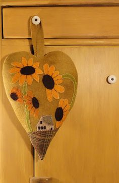 Sunflower Fields Pattern Company: Hanging Hearts