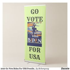 2020 Go Vote Biden For USA Presidential Elections Retractable Banner Retractable Banner, Cute Office, Banner Stands, Sticker Shop, Retro Art, Presidential Election, Online Shopping Stores, Vintage Cards, Corporate Events