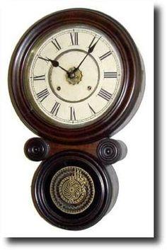 """1885, Ansonia Clock Co, """"KOBE"""" ionic wall clock"""