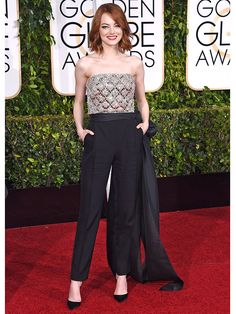 golden globes, tapis rouge, best outfit, worst outfit, vedette, star, chic, glam, emma stone