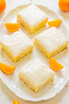 Orange Lemon Orangies -Like brownies, but made with orange, lemon, and white chocolate!! Fast, EASY, dense, chewy, and packed with big, BOLD citrus flavor!!