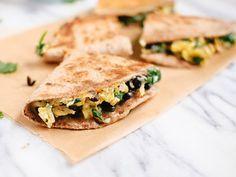 Quesadillas para desayunar con pan pita