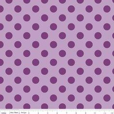 Riley Blake Medium Dots Tone on Tone Cotton Fabric in Lavendar By The Yard by HouseOfJdawn on Etsy