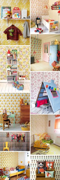 love the vintage feel of these kids rooms and nurseries.
