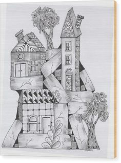 High Rise Art Print by Cathy Cusson. All prints are professionally printed, packaged, and shipped within 3 - 4 business days. Zentangle Drawings, Doodles Zentangles, Zentangle Patterns, Doodle Drawings, Zen Doodle, Doodle Art, Rise Art, Tangle Art, Doodle Inspiration