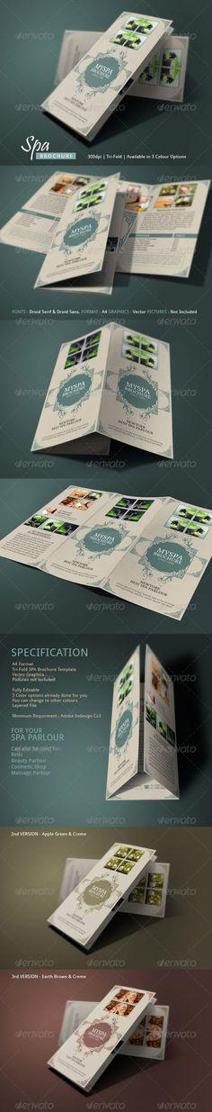 Spa Brochure Template - Corporate Brochures