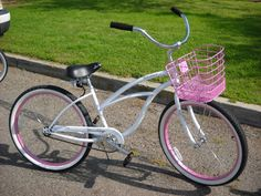 White and Pink Beach Cruiser :)