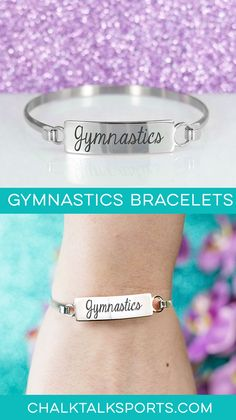 Our beautiful gymnastics clasp bracelet is the perfect gift for your gymnast, whether it's for winning a meet, celebrating a birthday, a holiday, or more! Gymnastics Coaching, Gymnastics Gifts, Gymnastics Outfits, Bracelet Clasps, Bracelets, Amazing Gymnastics, Meet, Grandkids