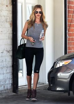 celebstarlets:  7/9/14 - Rosie Huntington-Whiteley leaving the gym in West Hollywood.