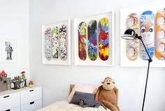 Great Skateboard art - elevated by the frames