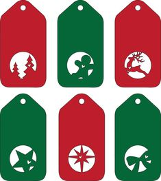 DIY Christmas tags - svg files