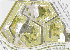 Urban Design Diagram, Urban Design Plan, Landscape Design Plans, Urban Landscape, Concept Architecture, Modern Architecture, Site Plans, Master Plan, Urban Planning