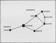Pleiades Tattoo Idea. Minus the connecting lines. Just a cluster of tiny little dots, varying slightly in size, in indigo and white ink.