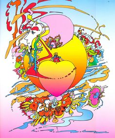 Between the Sea and Sky .by Peter Max
