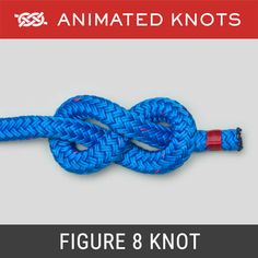 The Square Knot (Reef Knot) is usually learned when we tie our shoelaces. Admittedly it is usually a bow that we tie - but the underlying knot is a Square Knot. Animated Knots By Grog, Prusik Knot, Lanyard Knot, Scout Knots, Sailing Knots, Bowline Knot, Survival Knots, Survival Skills, Life Hacks