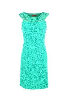 Rene Derhy Emerald Crochet Dress