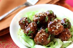With a fun twist from traditional Italian meatballs, these are packed with Asian flavors and then tossed in a delicious Hoisin sauce. This is the easiest meatball recipe I've ever made. The meatballs stayed together Meatball Recipes, Pork Recipes, Asian Recipes, Cooking Recipes, Ethnic Recipes, Recipies, Japanese Recipes, Asian Foods, Yummy Recipes