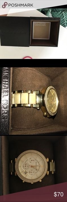 Michael Kors women's watch Michael Kors women's watch, worn 3 times max. Basically brand new with box. Michael Kors Jewelry Bracelets