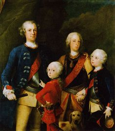 Carlo Francesco Rusca, Group Portrait of the sons of Friedrich Wilhelm I, King of Prussia, 1737