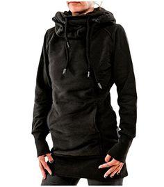SHOWNO Men Hip Hop Ripped Hole Plain Casual Sport Longline Pullover Hoodie Sweatshirt